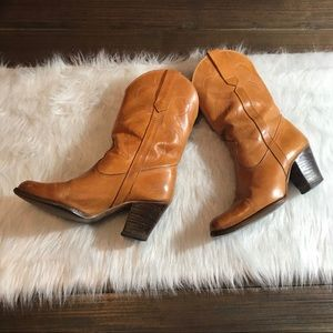 Vintage Western leather fashion boots Sz 6.5